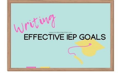 Writing Effective IEP Goals