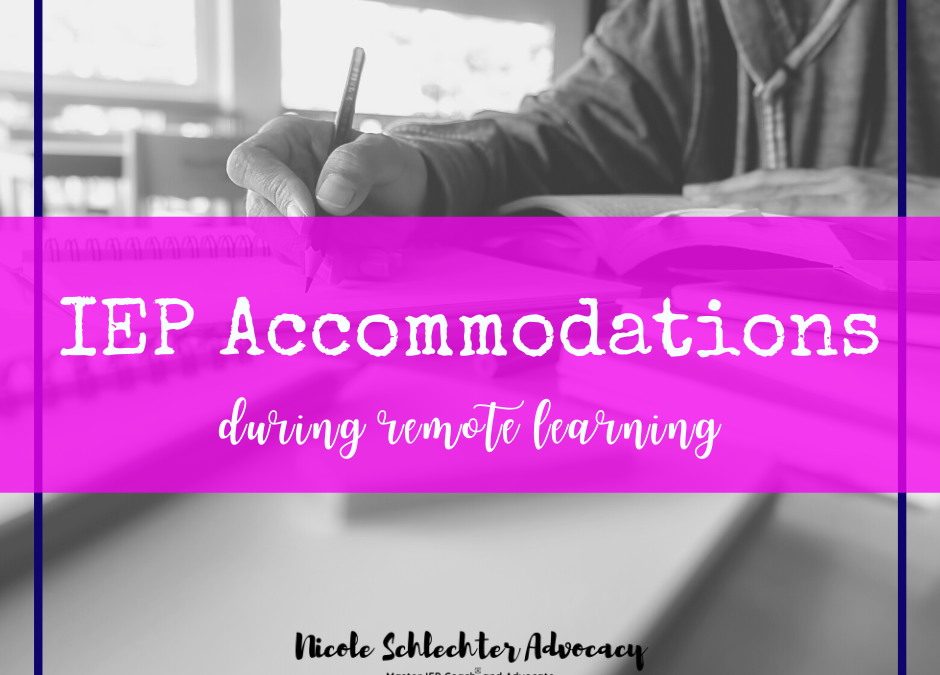 IEP Accommodations for Remote Learning